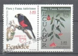 Equateur - Ecuador 2003 Yvert 1769-70, América UPAEP, Fauna & Flora - MNH - Ecuador