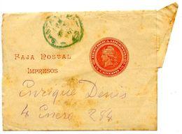 Argentina 1907 ½c. Liberty Wrapper Santa Fe Postmark - Postal Stationery