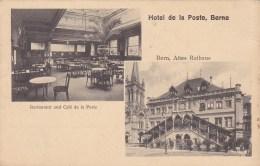 Berne Hôtel De La Poste  Circulée En 1914 - BE Berne