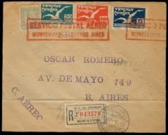 Airmails - World. URUGUAY - Argentina. 1926 (17 May). Special Air Service. Registr Env. - Unclassified