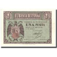 Billet, Espagne, 1 Peseta, 1938, 1938-04-30, KM:107a, SPL+ - [ 3] 1936-1975 : Régence De Franco