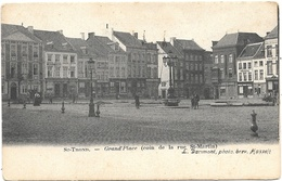 St-Trond NA5: Grand'Place Coin De La Rue St-Martin 1904 - Sint-Truiden