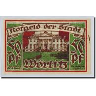 Billet, Allemagne, Wörlitz, 50 Pfennig, Paysage 1, O.D, SPL, Mehl:1450.1 - Other