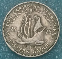 Eastern Caribbean 25 Cents, 1959 - East Caribbean States