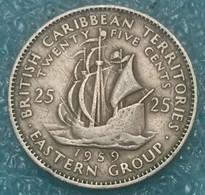 Eastern Caribbean 25 Cents, 1959 -4096 - Caribe Oriental (Estados Del)