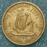 Eastern Caribbean 5 Cents, 1962 -1161 - Caribe Oriental (Estados Del)