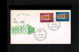 1969 - Europe CEPT FDC Italy [P15_163] - Europa-CEPT