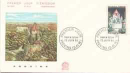 """FDC Du 13 Juin 1964 à Provins """" Tour De César """" - FDC"""