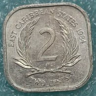 Eastern Caribbean 2 Cents, 1984 - East Caribbean States
