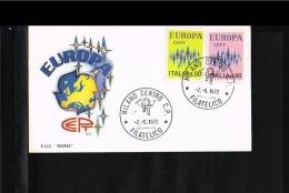 1972 - Europe CEPT FDC Italy - Fdc Roma Blue - Milano [P14_360] - Europa-CEPT