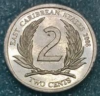Eastern Caribbean 2 Cents, 2008 -0729 - Caraibi Orientali (Stati Dei)
