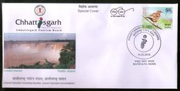 India 2018 Tourism Chitrakot Waterfall Nature Bird Special Cover # 18359 - Other