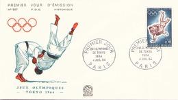 """FDC Du 4 Juillet 1964 à Paris """" Jeux Olympiques Tokyo """" - FDC"""