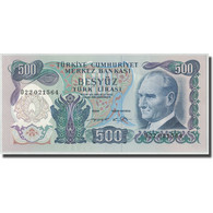 Billet, Turquie, 500 Lira, L.1970, 1970-01-26, KM:190, NEUF - Turkey