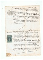 RF  Me MOSNIER HUISSIER à PARIS  ACTE  REFUS DE PAYER  1891 - Manoscritti