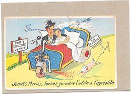ILLUSTRATEUR  DE PRAISSAC - HUMOUR - JEUNES MARIES..........à L'agréable   - BORD** - - Künstlerkarten