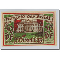 Billet, Allemagne, Wörlitz, 50 Pfennig, Paysage 3, O.D, SPL, Mehl:1450.1 - Other