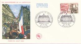 """FDC Du 22 Août 1964 à Paris """" 20° Anniversaire De La Libération Paris En Août 1944 """" - FDC"""