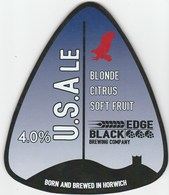 BLACKEDGE BREWERY (HORWICH, ENGLAND) - U.S.ALE - PUMP CLIP FRONT - Signs