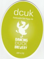 DANCING DUCK BREWERY (DERBY, ENGLAND) - DCUK PALE ALE - PUMP CLIP FRONT - Signs