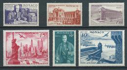 MONACO 1947 . Série N°s 22 à 27 . Neufs ** (MNH) - Poste Aérienne