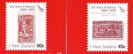 New Zealand 2005 150 Years Of Stamps 1905-1955 Both Self-adhesive Mint Booklets - Booklets