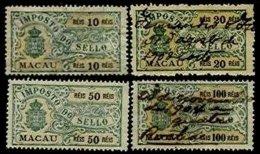 MACAU, Stamp Duty, PB 84/85, 88, 91, Used, F/VF - Revenue Stamps