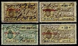 MACAU, Stamp Duty, PB 131, 135, 152, 178, Used, F/VF - Revenue Stamps