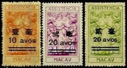 MACAU, Assistencia, PB 24/27, (*) MNG, F/VF, Cat. € 8 - Revenue Stamps