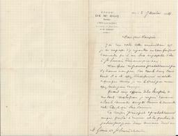 MER LOIR ET CHER ETUDE DE ME DUC NOTAIRE SUCCESSEUR ET BEAU FRERE DE MR PINSARD LETTRE DOUBLE ANNEE 1894 - Invoices & Commercial Documents