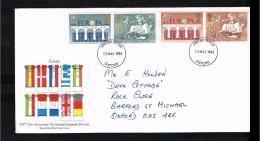 1984 - Europe CEPT FDC Great Britain Mi.988-91 - Cancel Oxford [JP061] - Europa-CEPT