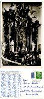 Germany, West 1954 RPPC Postcard Church Altar, Buchau Am Federsee Postmark - Churches & Convents