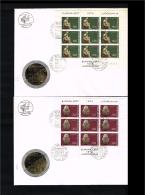 1974 - Jugoslavia FDC Mi.1557-15558 - 2 Minisheets - Europe CEPT [D18_046] - FDC