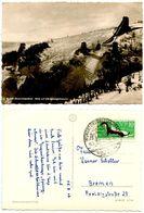 Germany, East 1962 RPPC Postcard Kurort Oberwiesenthal - Ski Jumps, To Bremen - Winter Sports