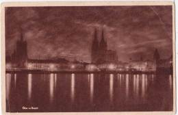 Cards R18 Postcard Pre-war Germany Cologne Night - Unclassified