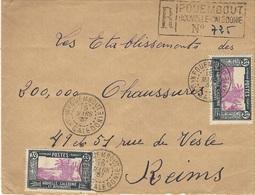 1937- Enveloppe RECC. De POUEMBOUT  ( Type Provisoire ) Affr; 35 X 5 =1,75 F  SUPERBE - Briefe U. Dokumente