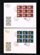 1976 - Europe CEPT FDC Jugoslavia Mi.1635-1636 - 2 Minisheets [D18_030] - Europa-CEPT