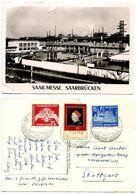 Saar 1959 RPPC Postcard Saar-Messe (Fair), Saarbrücken W/ Scott 319-321 - Covers & Documents