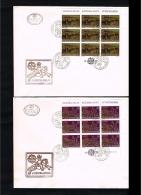 1979 - Jugoslavia FDC Mi.1787-1788 - 2 Minisheets - Europe CEPT [D19_058] - FDC