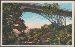 Cedar Avenue Bridge Over Stony Run, Baltimore, Maryland, 1913 - Ottenheimer Postcard - Baltimore