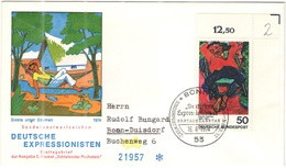 GERMANIA - GERMANY - Deutschland - ALLEMAGNE - 1974 - 50 Heckel Deutsche Expressionisten - FDC - Bonn - Viaggiata Per Bo - [7] Repubblica Federale