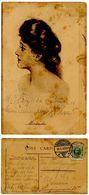 Denmark 1908 Postcard Woman - Miranda, Aalborg To København - Postcards