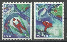 """Norwegen 1242-1243.""""Ski-VM 1997, Satz Kpl."""" Postfrisch Mi. 2,50 - Norvège"""