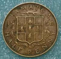 Jamaica ½ Penny, 1958 - Jamaica