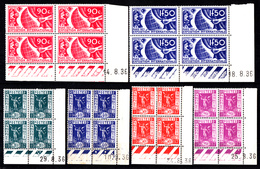 FRANCE - N° 322/327 - EXPOSITION INTERNATIONALE DES ARTS ET TECHNIQUES PARIS 1937 - Coins Datés