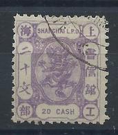1880 SHANGHAI SMALL DRAGON 20 CASH LILAC USED -CHAN LS87 - Chine