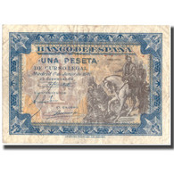 Billet, Espagne, 1 Peseta, 1940, 1940-07-01, KM:121a, TTB - [ 3] 1936-1975 : Régence De Franco