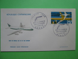 1966 Joint Central African Republic / Eleven Other Countries - Intro. Into Service Of DC8 By Air Afrique - C.A.R. FDC - Joint Issues