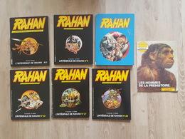 Rahan - 7 Bd Et Albums - Deux N°1 - Album + L'Intégrale De Rahan + Album Pour Vignettes Autocollantes Les Hommes Préhist - Rahan