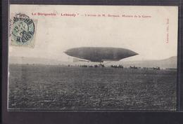 """CPA 55 ? - Le DIRIGEABLE """" LEBAUDY """" - L'arrivée De M. Berteaux , Ministre De La Guerre - SUPERBE PLAN Aérostation 1906 - Dirigibili"""